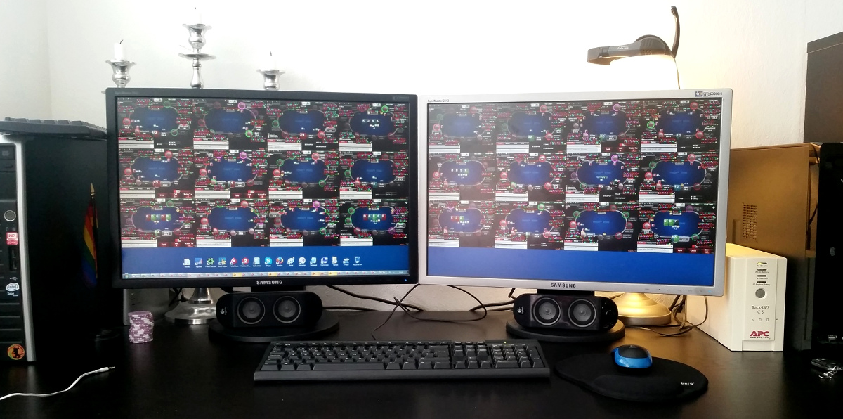 Poker desktop setup