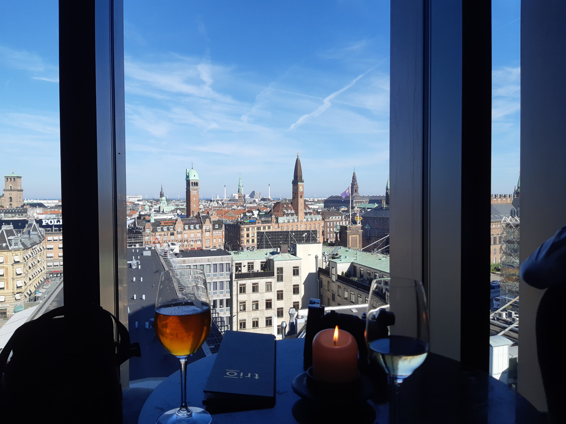 Rounding off with light refreshments and a nice view over central Copenhagen.